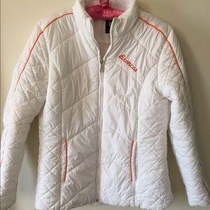NFL Denver Broncos White Lightweight Puffer Coat